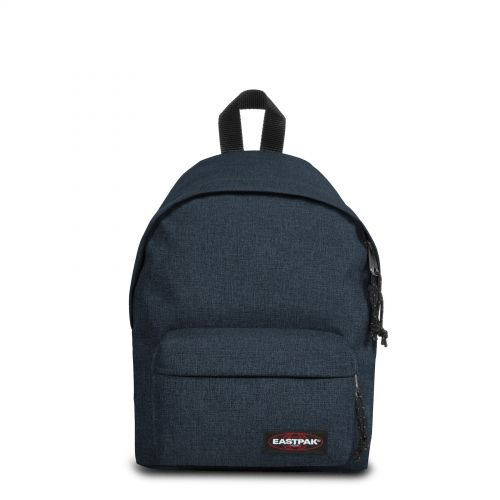 Orbit XS Triple Denim Backpacks by Eastpak - Front view