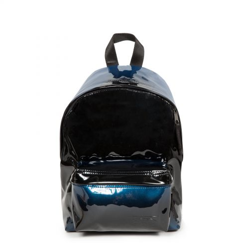 Orbit XS Glossy Blue Backpacks by Eastpak - Front view