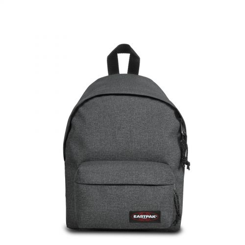 Orbit XS Black Denim Backpacks by Eastpak - Front view