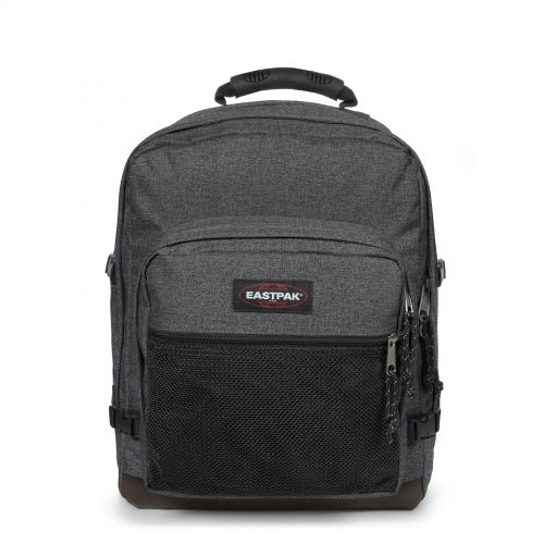 Ultimate Black Denim Backpacks by Eastpak - Front view