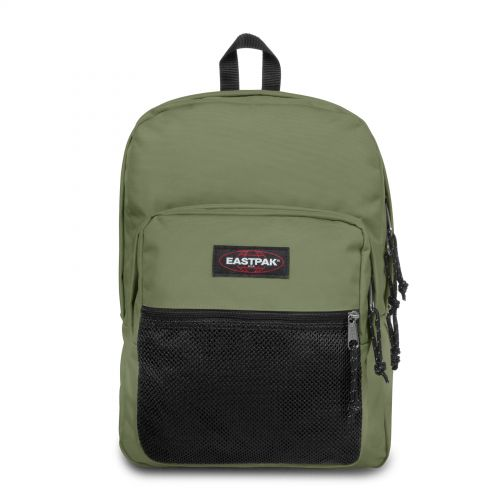 Pinnacle Quiet Khaki Backpacks by Eastpak - Front view