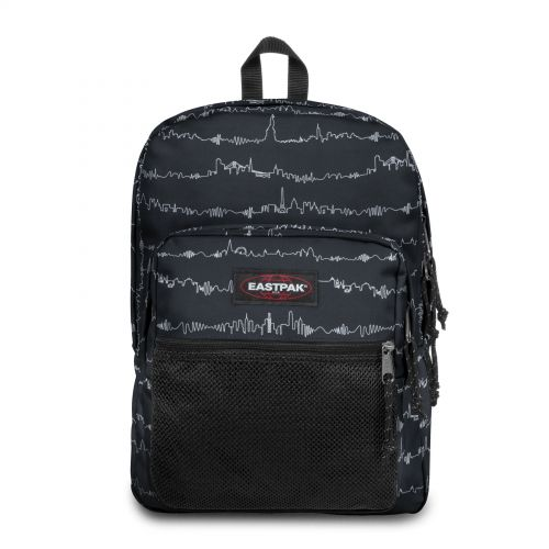 Pinnacle Beat Black Backpacks by Eastpak - Front view