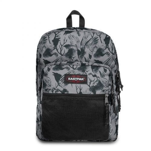 Pinnacle Dark Forest Grey Backpacks by Eastpak - Front view