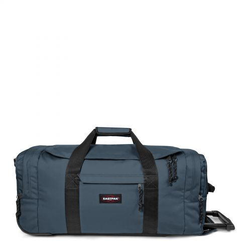 Leatherface M Ocean Blue Luggage by Eastpak - Front view