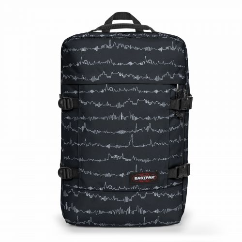 Tranzpack Beat Black Backpacks by Eastpak - Front view