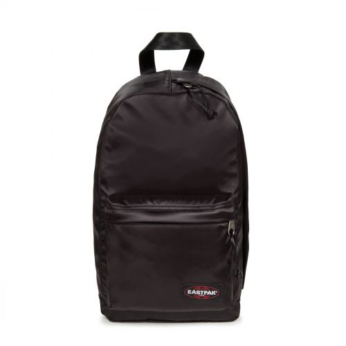 Litt Satin Black Backpacks by Eastpak - Front view