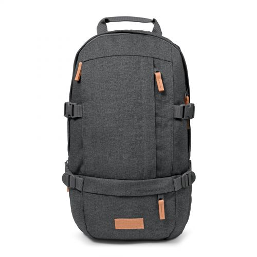 Floid Black Denim Backpacks by Eastpak - Front view