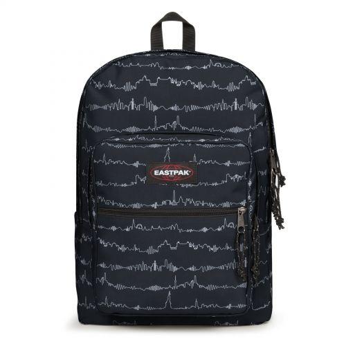 Pinnacle L Beat Black Backpacks by Eastpak - Front view