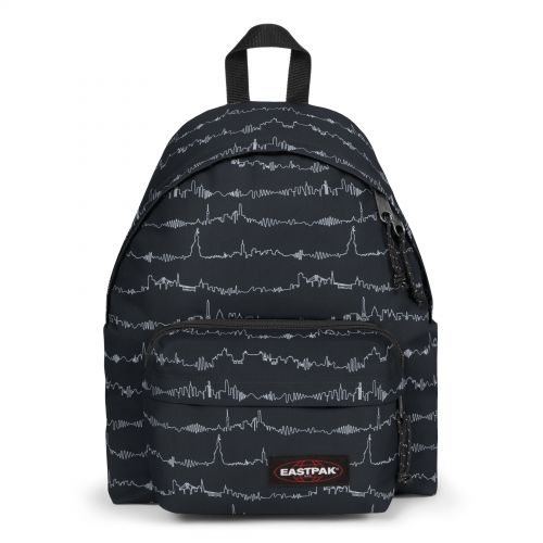 Padded Travell'r Beat Black Backpacks by Eastpak - Front view
