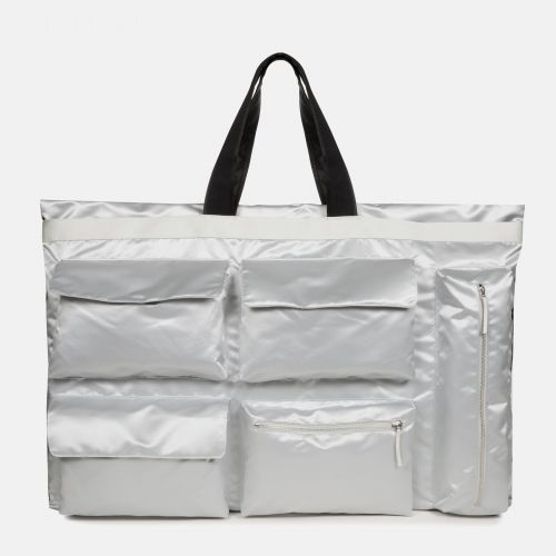 Raf Simons Poster Tote Satin Boy Silver Shoulderbags by Eastpak - Front view