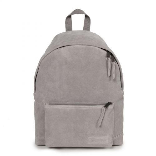 Padded Sleek'r Suede Grey by Eastpak - Front view