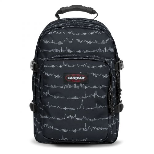 Provider Beat Black Backpacks by Eastpak - Front view