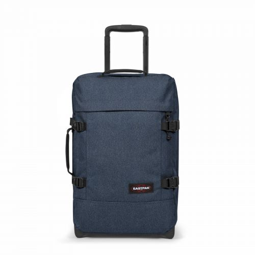 Tranverz S Double Denim Luggage by Eastpak - Front view