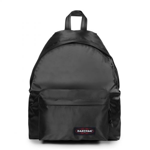 Padded Pak'r® Satin Black Backpacks by Eastpak - Front view