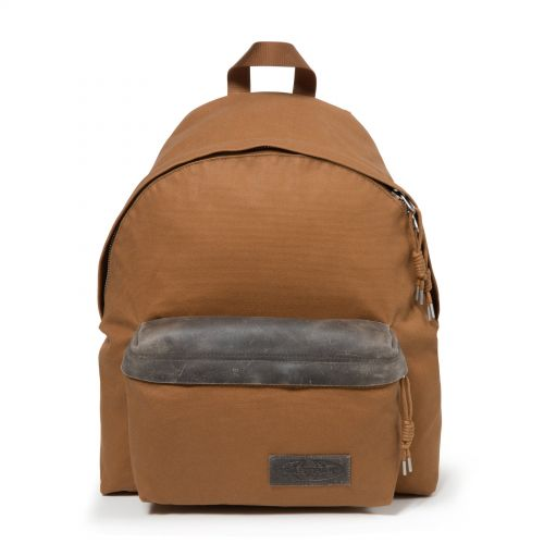 Padded Pak'r® Axer Brown Backpacks by Eastpak - Front view