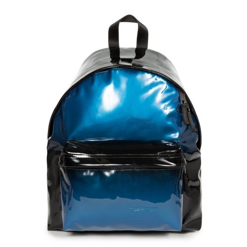 Padded Pak'r® Glossy Blue Backpacks by Eastpak - Front view