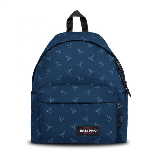 Padded Pak'r® Minigami Blue Birds Backpacks by Eastpak - Front view