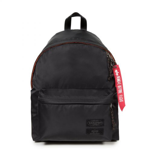 Padded Pak'r® Alpha Black Backpacks by Eastpak - Front view