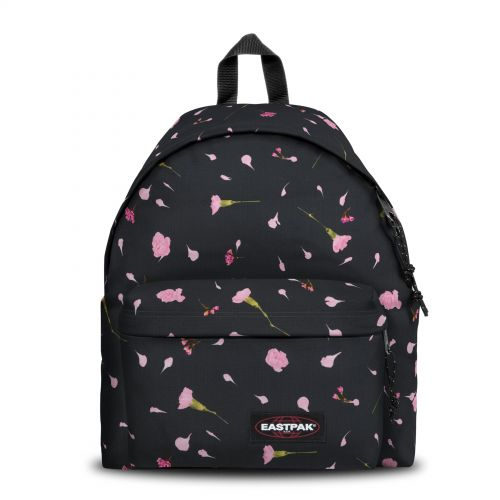 Padded Pak'r® Carnation Black Backpacks by Eastpak - Front view