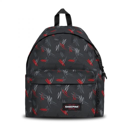 Padded Pak'r® Scribble Black Backpacks by Eastpak - Front view