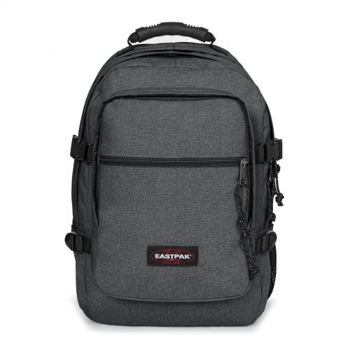 Wolf Black Denim Backpacks by Eastpak - Front view