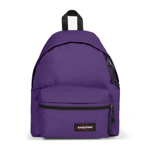 Padded Zippl'r Prankish Purple Backpacks by Eastpak - Front view