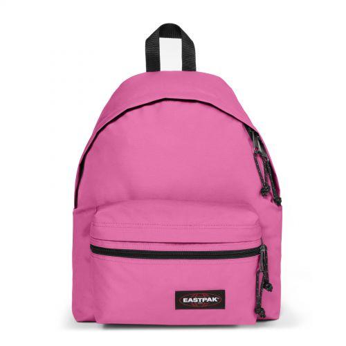 Padded Zippl'r Frisky Pink Backpacks by Eastpak - Front view