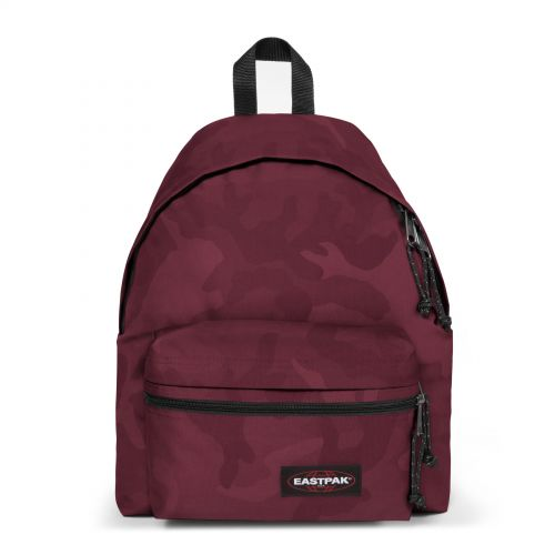Padded Zippl'r Tonal Camo Red Backpacks by Eastpak - Front view