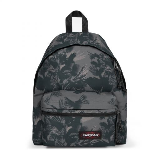 Padded Zippl'r Dark Forest Black Backpacks by Eastpak - Front view