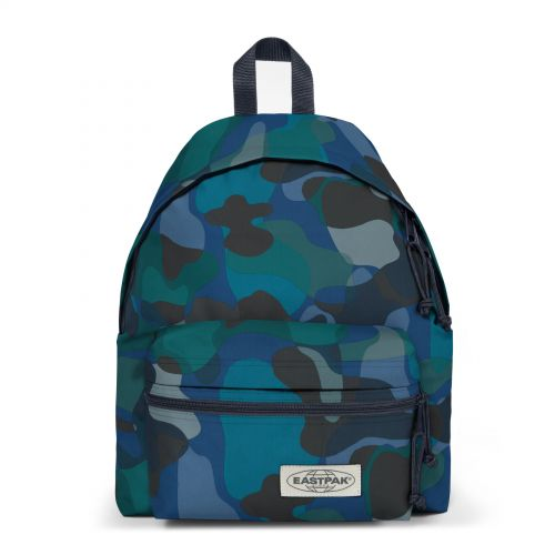 Padded Zippl'r Camo'ed Flash Backpacks by Eastpak - Front view