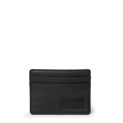 Zeke RFID Black Ink Leather by Eastpak - Front view