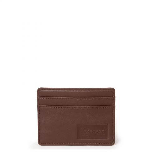 Zeke RFID Chestnut Leather by Eastpak - Front view