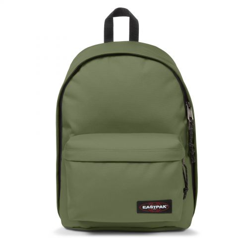 Out Of Office Quiet Khaki Backpacks by Eastpak - Front view