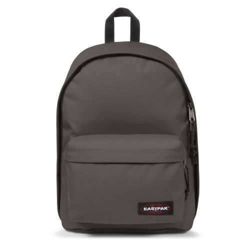 Out Of Office Simple Grey Backpacks by Eastpak - Front view