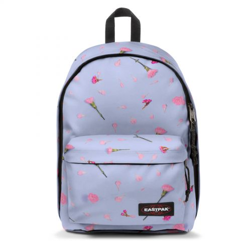 Out Of Office Carnation Blue Backpacks by Eastpak - Front view