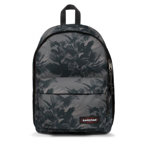 Out Of Office Dark Forest Black Backpacks by Eastpak - Front view