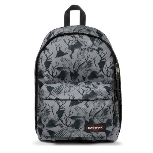 Out Of Office Dark Forest Grey Backpacks by Eastpak - Front view