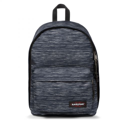 Out Of Office Knit Grey Backpacks by Eastpak - Front view