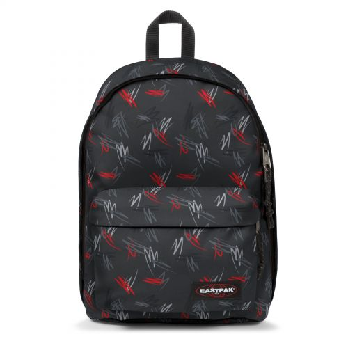 Out Of Office Scribble Black Backpacks by Eastpak - Front view