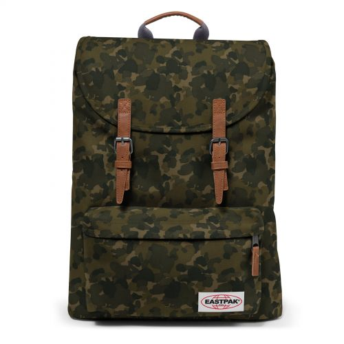 London Opgrade Camo Backpacks by Eastpak - Front view