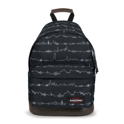 Wyoming Beat Black Backpacks by Eastpak - Front view