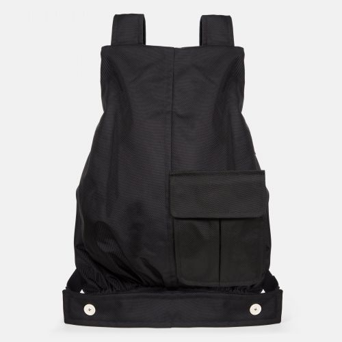 Raf Simons Coat Bag Black Structured Backpacks by Eastpak - Front view