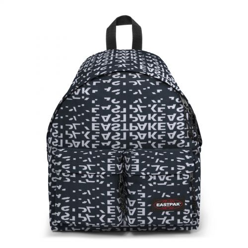 Padded Doubl'r Bold Black Backpacks by Eastpak - Front view