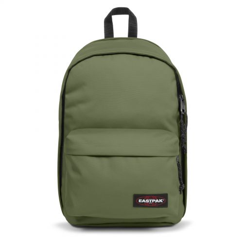 Back To Work Quiet Khaki Backpacks by Eastpak - Front view