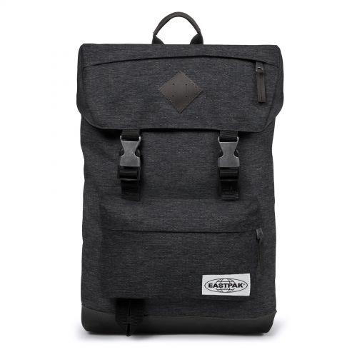 Rowlo Into Black Yarn Backpacks by Eastpak - Front view