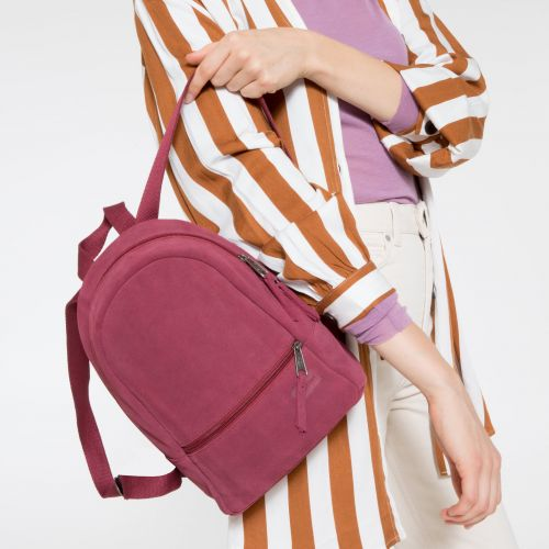 Lucia S Suede Merlot Backpacks by Eastpak - view 2