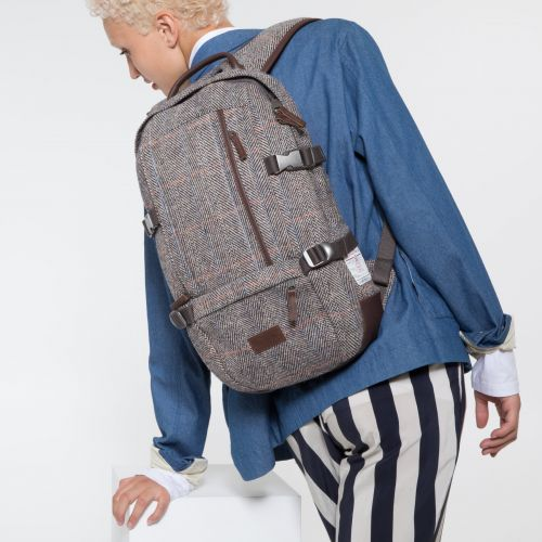 Harris Tweed Floid Herringbone L Backpacks by Eastpak - view 2
