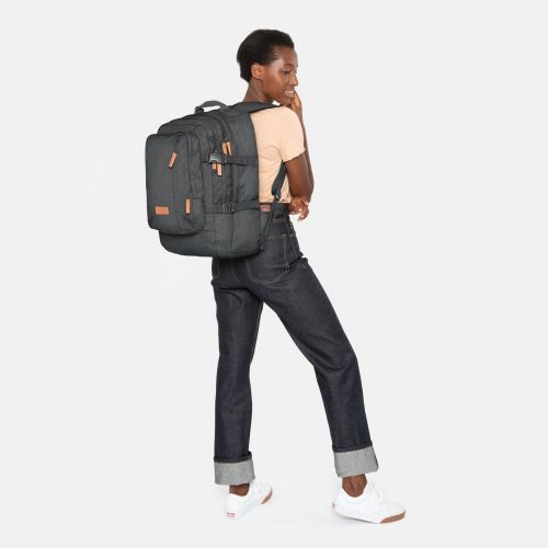 Volker Black Denim Backpacks by Eastpak - view 2