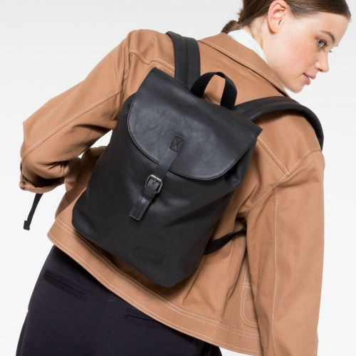 Casyl Black Ink Leather Backpacks by Eastpak - view 2