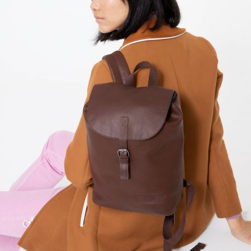 Casyl Chestnut Leather Backpacks by Eastpak - view 2